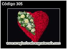 corazones de flores para funerales en guatemala