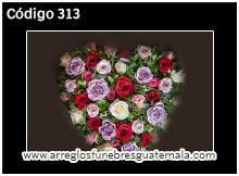 corazones bellos de flores naturales en guatemala