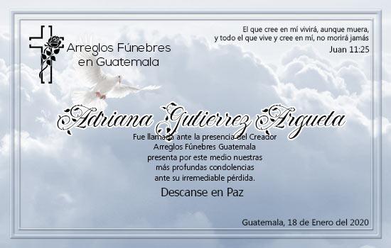 Descanse en Paz Adriana Gutierrez