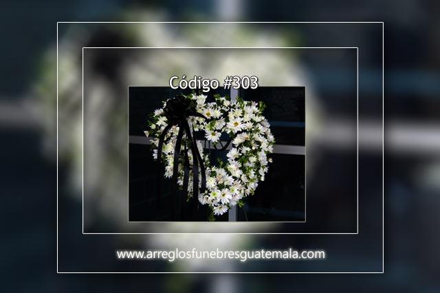Corazones lleno de flores para funerales