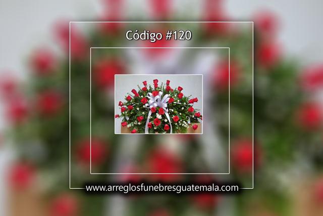 Arreglos grandes con rosas para funeral en Guatemala
