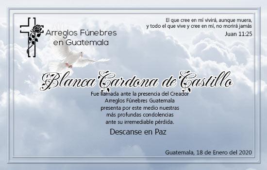 Descanse en Paz Blanca Cardona de Castillo