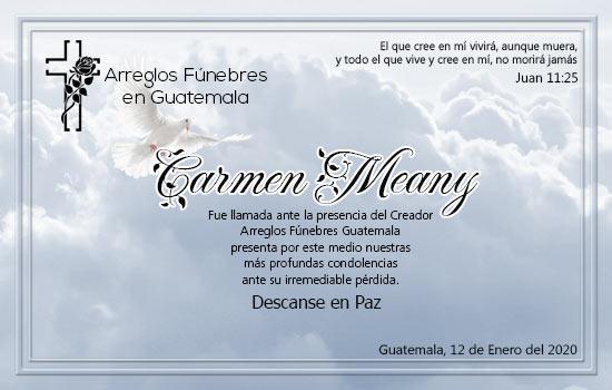 Carmen Meany Descanse en Paz