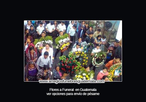Envío de flores a funeral en Guatemala