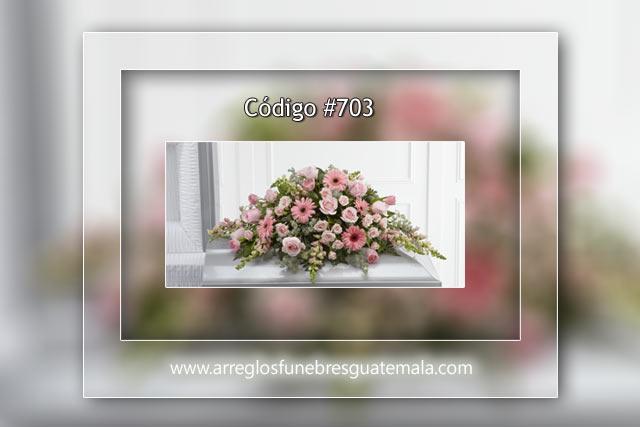 Arreglos bellos de rosas para funeral en Guatemala