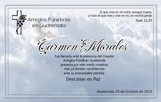 Obituario de Carmen Morales