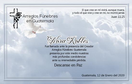 Descanse en Paz Nora Robles