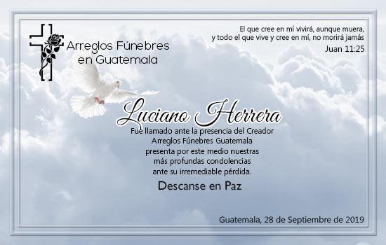 Obituario de Luciano Herrera