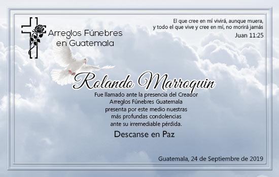 Obituario de Rolando Marroquin