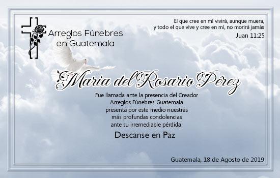 Descanse en paz María del Rosario Pérez
