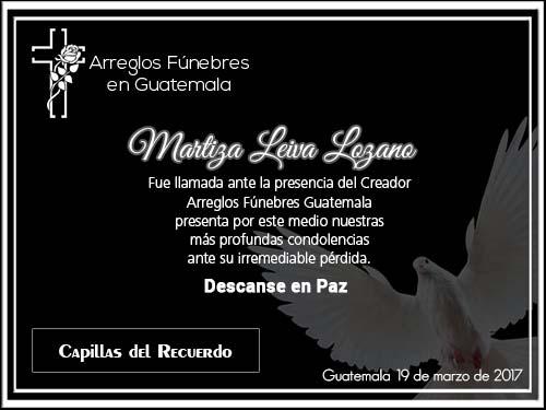 Obituarios Capillas del Recuerdo Guatemala