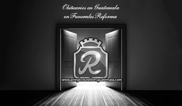 Obituarios en Funerales Reforma