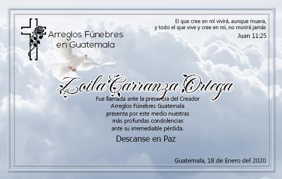 En Paz Descanse Zoila Marina Carranza Ortega